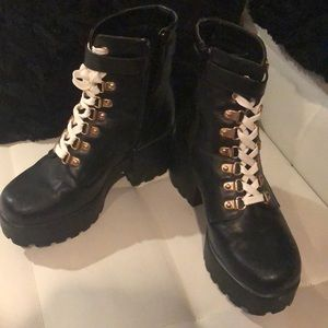 Nasty Gal lace up ankle boots